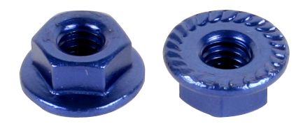 M4 Aluminium Serrated Flange Nut (5pcs /Pack)
