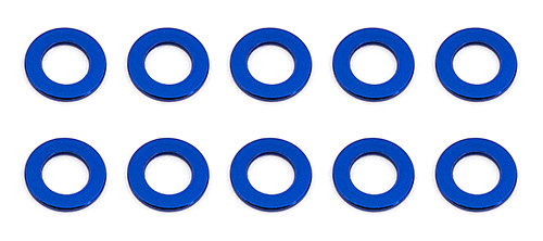 Associated BallStud washers 5.5x0.5mm Blue (10)