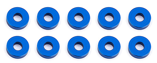 Associated Bulkhead washers 7.8x2.0mm Blue (10)