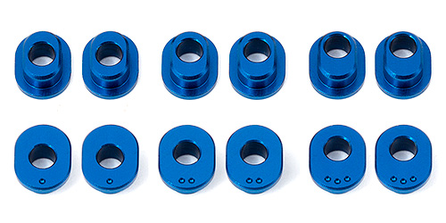 Associated RC12R6 Track Width Bushings Aluminium