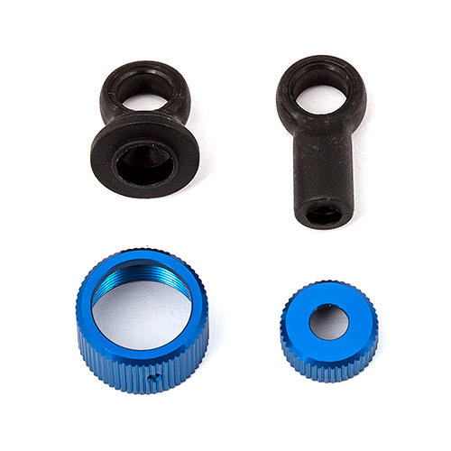 Associated RC12R6 Shock Cap Set
