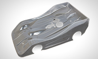 BLITZ TS035 1/8 On-road body 0.8mm PRE-CUT