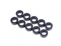 Destiny RX-10 2.5x5.5x0.5mm Aluminium Spacer Black 10pcs