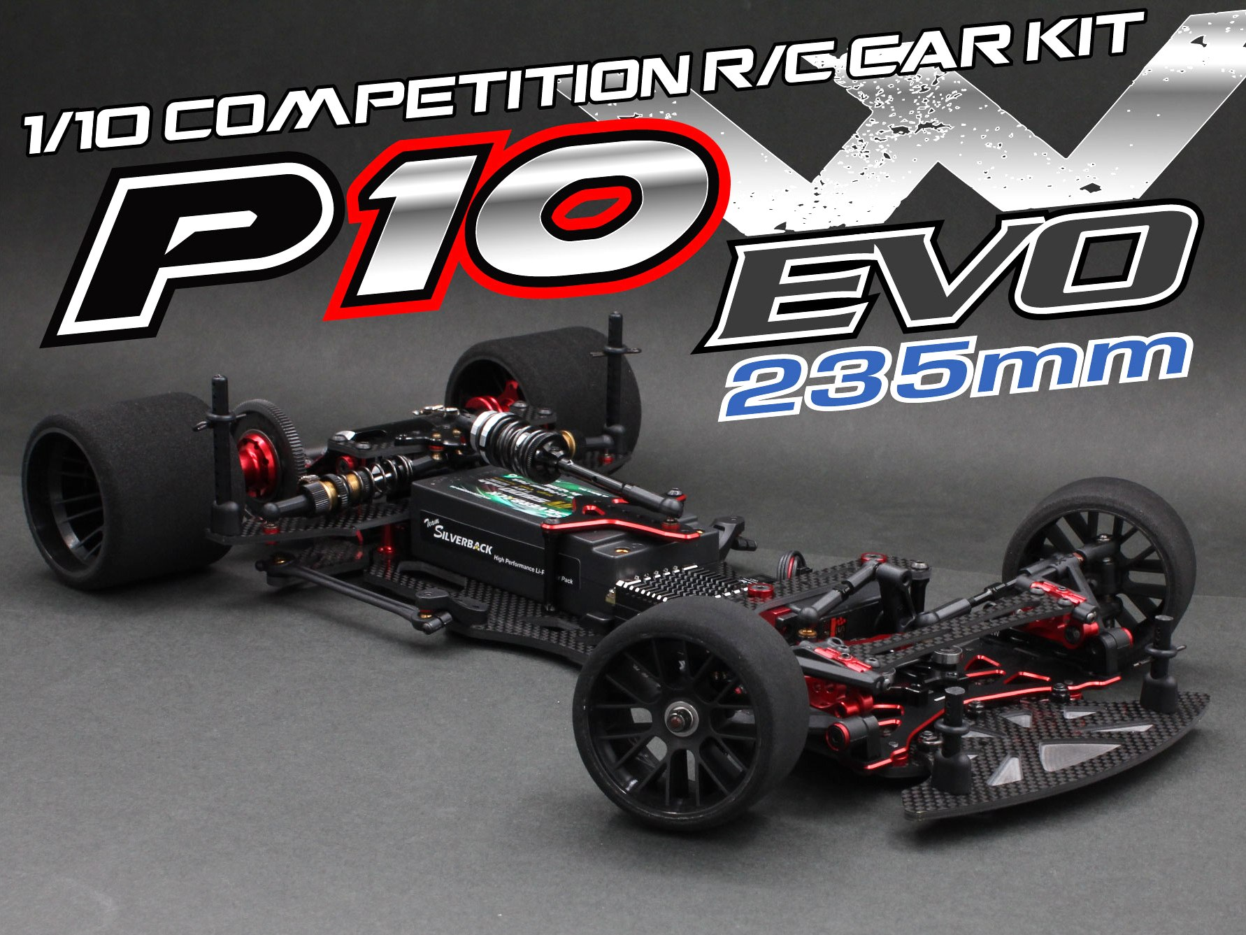 Rapide P10W EVO 1/10 235mm Competition Kit