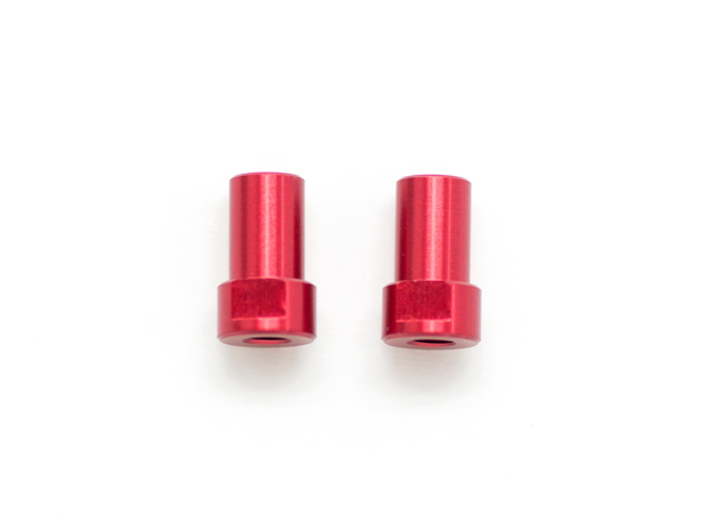 IF14 Chassis Mount Alu Steering Post (red/2pcs)