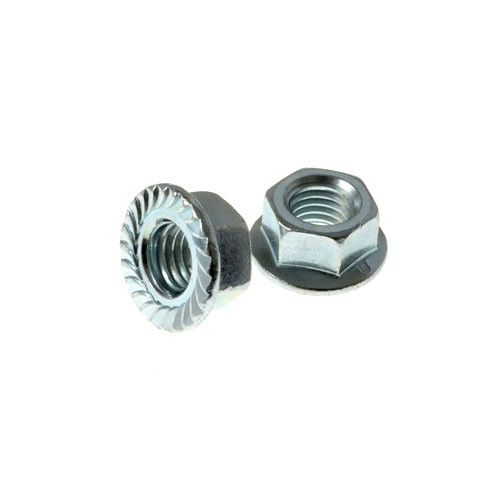 Flanged M4 Serrated wheel nuts