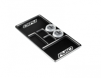 AVID Black Aluminium Parts Tray with 2 DOODADS