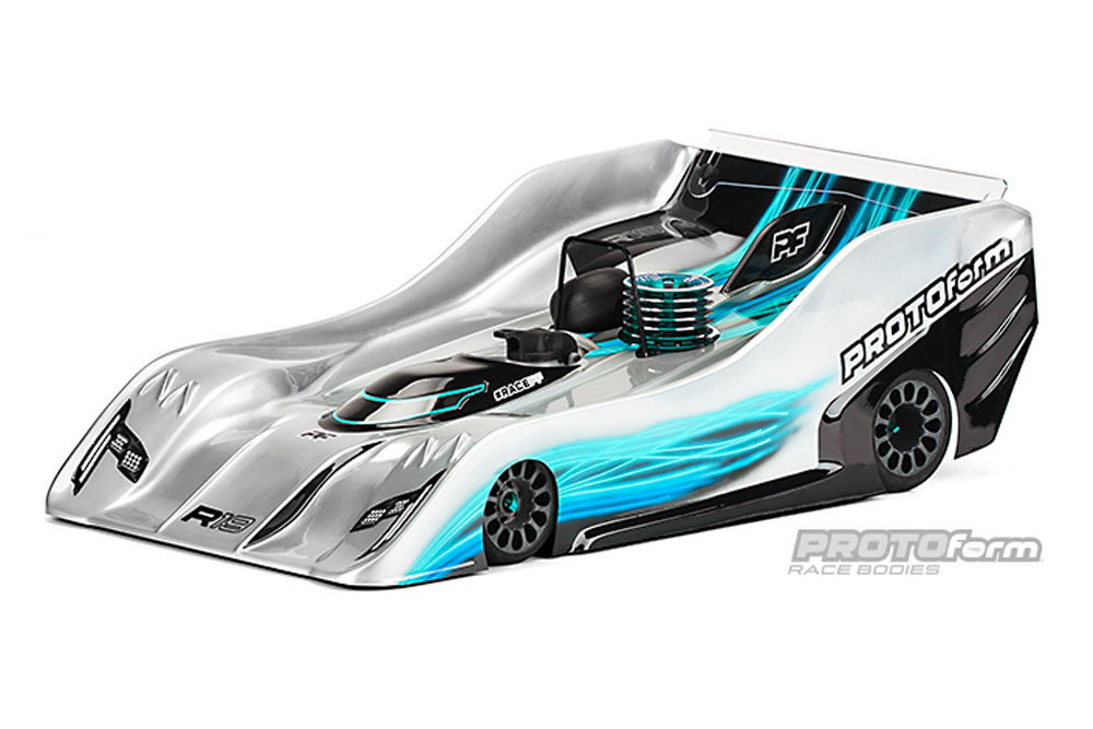 PROTOFORM R19 BODY FOR 1/8TH ON ROAD - LIGHTWEIGHT
