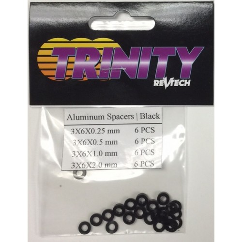 Black 3mm Ball Stud Shim set