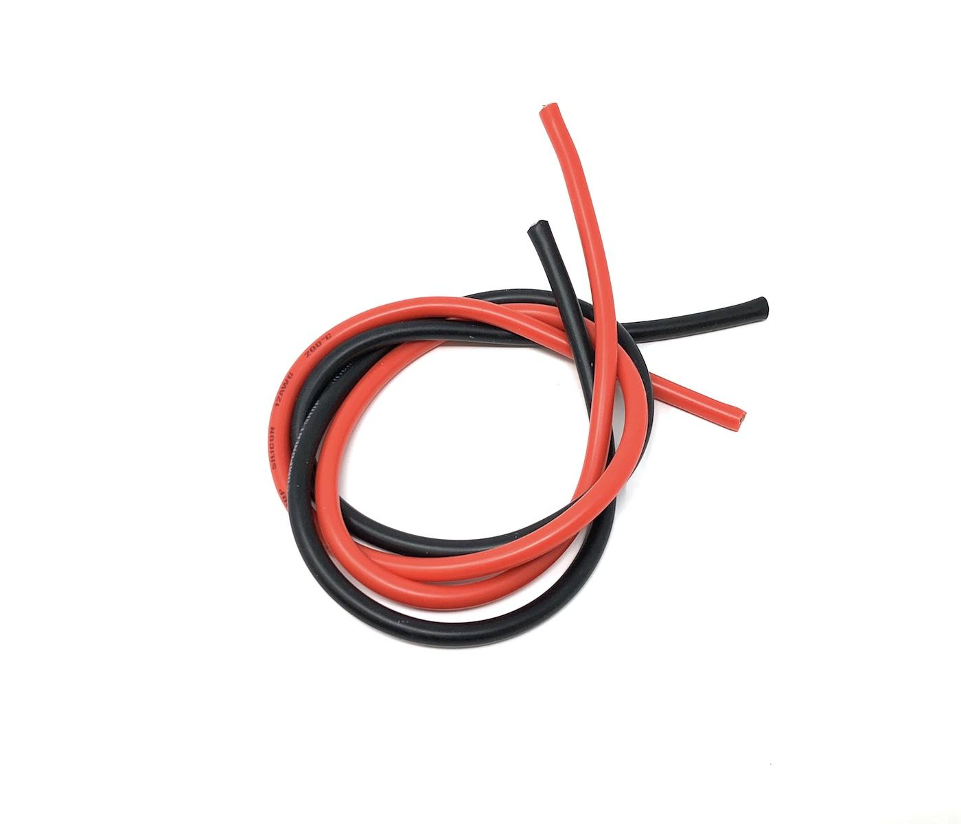 Hobbywing 14awg wire 75cm Black, 25cm Red