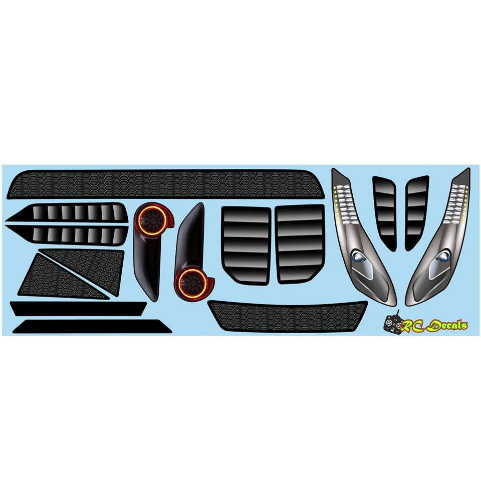 GTF light decal and grill set