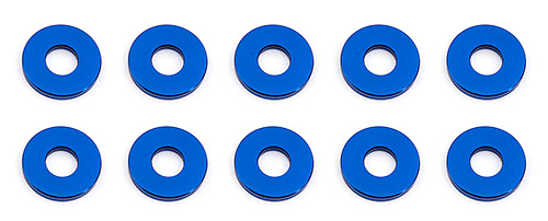 Associated Bulkhead washers 7.8x1.0mm Blue (10)