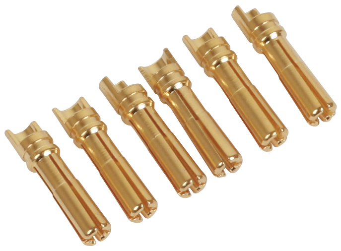 4mm Lipo Connector (High Current type Male Side) (6pcs)