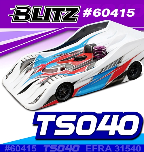 Blitz TS040 1/8 on-road body 0.8mm