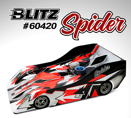 BLITZ Spider 1/8th On-Road Racing Bodyshell 0.7mm Light
