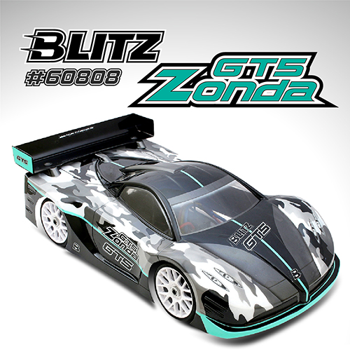 BLITZ GT5 Zonda 1/8th On-Road GT Body