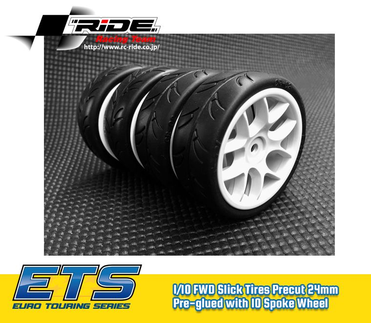 RIDE 1/10 PRECUT 24MM 4PCS