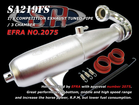 SH 1/8 Off-Road Exhaust Complete System