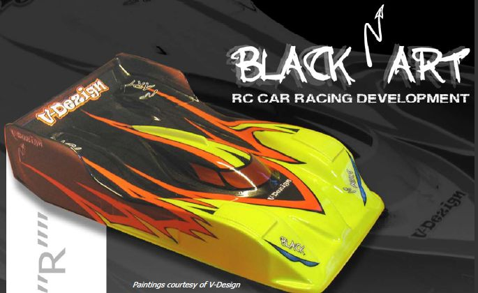 "Black Art 1/12 Racing body ""Bomb-R"""""