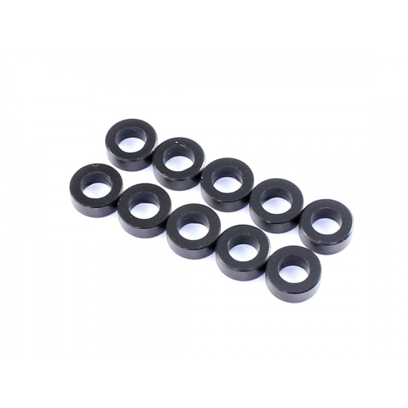 3x5.5x0.5mm Spacer 10pcs Black