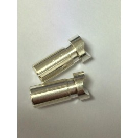 Balls Out 5mm Silver plated Short connector 1pr