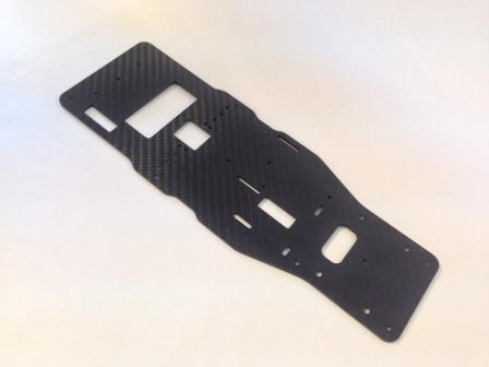 GT12 Main Chassis Twill Carbon Composite
