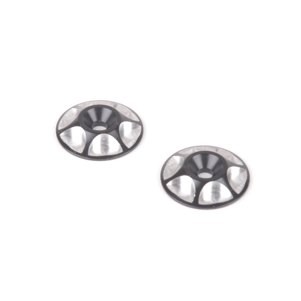 ALLOY M3 WING WASHER - BLACK - PK2
