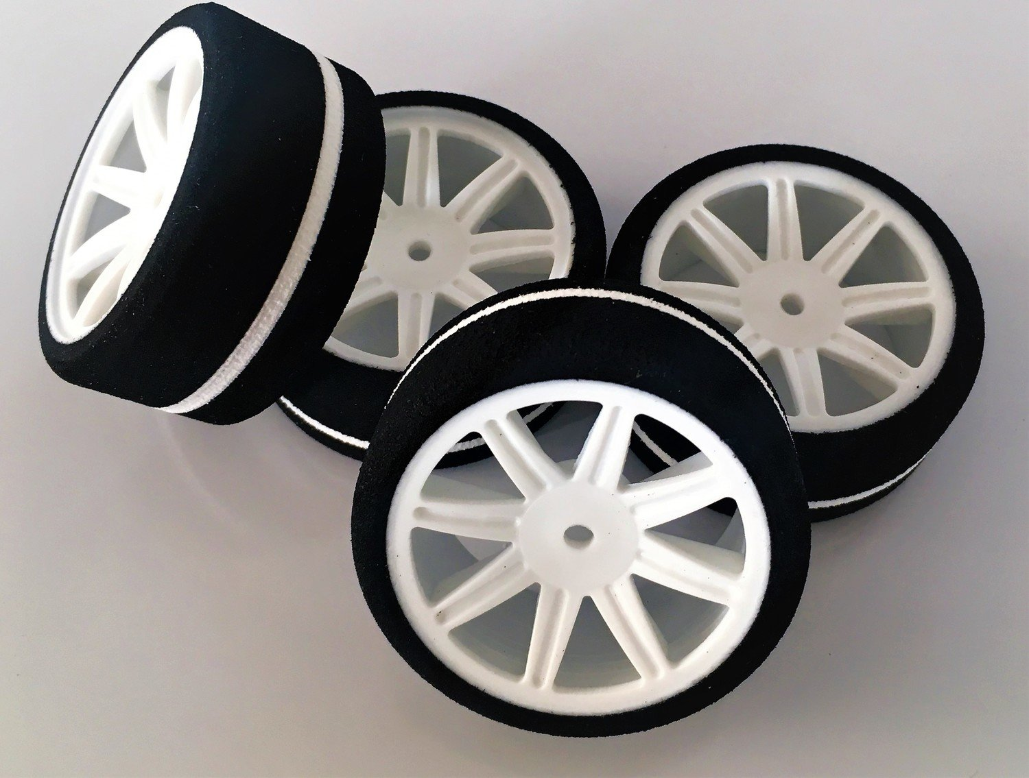 Contact RC JW38FA 1//10 Front Foam Tires WGT//GT10 38Shore Lilac White Wheels 2