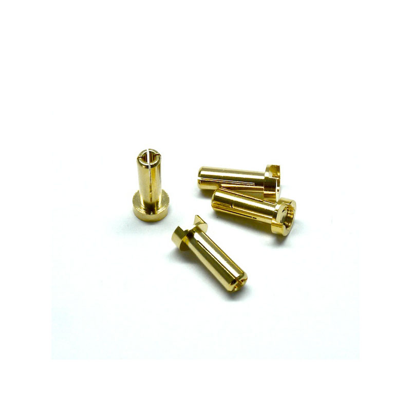 4mm Ultra Low Resistance Plug 4pcs